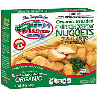 Bell & Evans Organic Breaded Chicken Breast Nuggets, 12 oz