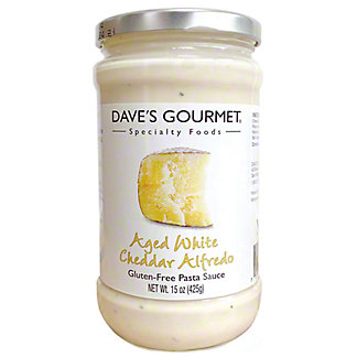 Dave's Gourmet Aged White Cheddar Alfredo, 15 oz