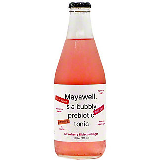 Mayawell Strawberry Hibiscus Ginger Prebiotic Tonic, 12 fl oz