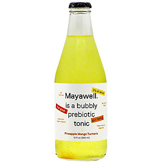 Mayawell Pineapple Mango Turmeric Bubbly Prebiotic Tonic, 12 fl oz
