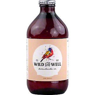 Wild And Well Kombucha Ginger Kombucha, 11 oz