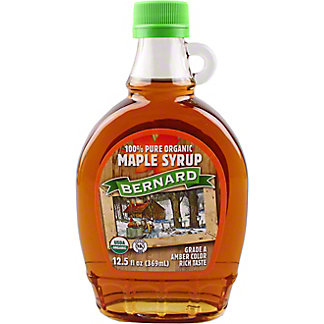 Bernard Organic Maple Syrup Grade A Amber, 12.5 fl oz