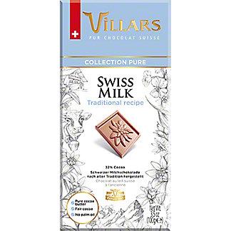 Villars Swiss Milk Traditional Recipe Chocolate Bar, 3.5 oz