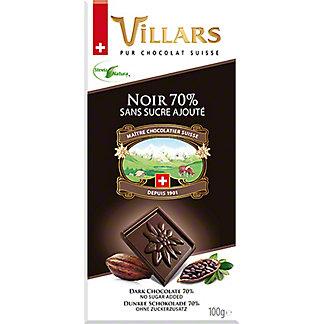 Villars Sugar Free 70% Cacao Dark Chocolate Bar With Stevia, 3.5 oz
