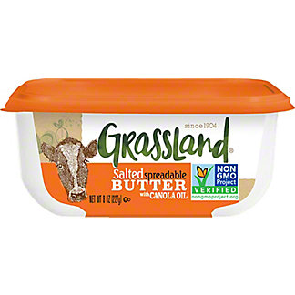 Grassland Salted Spreadable Butter with Canola Oil, 8 oz