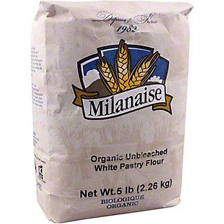 Milanaise Organics Unbleached White Pastry Flour, 5 lb