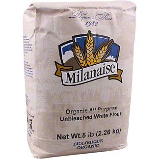 Milanaise Organic All Purpose Unbleached White Flour, 5 lb