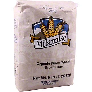 Milanaise Organic Whole Wheat Bread Flour, 5 lb