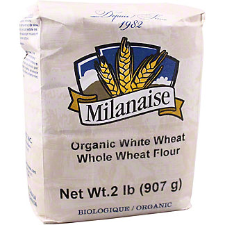 Milanaise Organic White Whole Wheat Flour, 2 lb