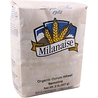 Milanaise Organic Durum Wheat Semolina, 2 lb