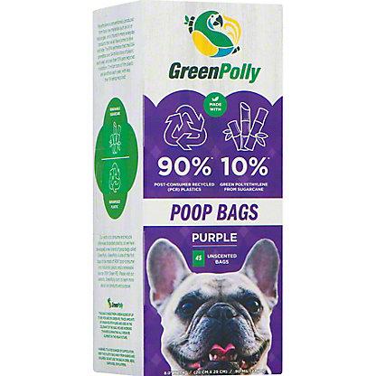 Green Polly Pet Poop Bags, 45 ct
