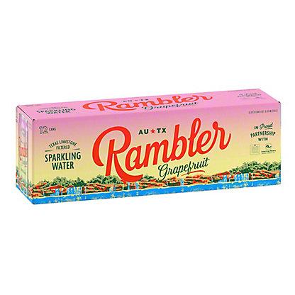 Rambler Grapefruit Sparkling Water, Cans, 12 pk, 12 fl oz ea