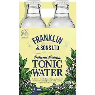 Franklin & Sons Tonic Water, 4 pk Glass Bottles, 6.8 fl oz ea