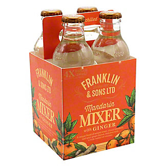 Franklin & Sons Mandarin with Ginger Mixer, 4 ct