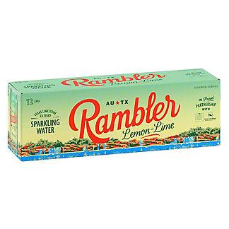 Rambler Lemon Lime Sparkling Water, 12 pk, 12 fl oz ea