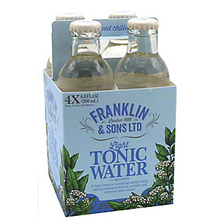 Franklin & Sons Light Tonic Water, 4 ct