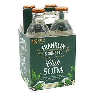 Franklin & Sons Club Soda, 4 ct