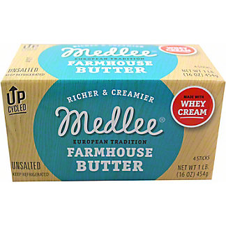 Medlee Unsalted Whey Farmhouse Butter, 4 ct
