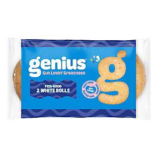 Genius Gluten Free Feel-Good White Rolls, 2 ct