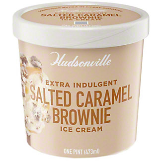 Hudsonville Salted Caramel Brownie Ice Cream, 16 oz