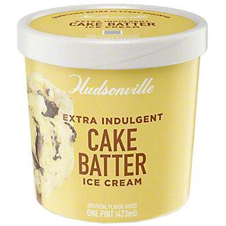 Hudsonville Cake Batter Ice Cream, 16 oz