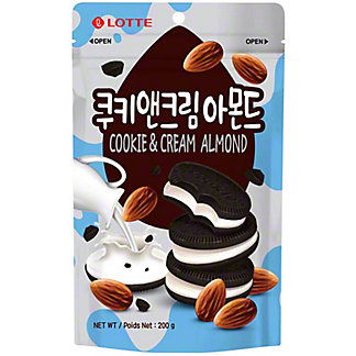 Lotte Cookie & Cream Almonds, 200 g