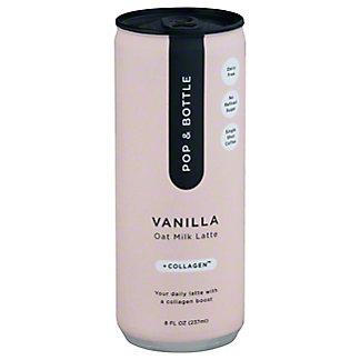 Pop & Bottle Vanilla Oat Milk Collagen Cold BrewLatte, 8 fl oz