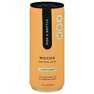 Pop & Bottle Mocha Oat MilkAdaptogensCold Brew Latte, 8 fl oz