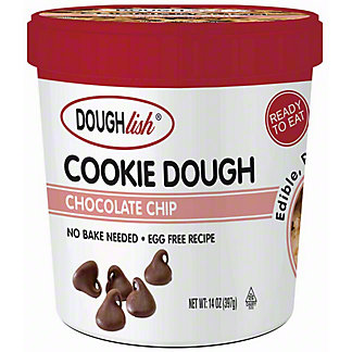 Doughlish Ready To Eat Chocolate Chip Cookie Dough, 14 oz