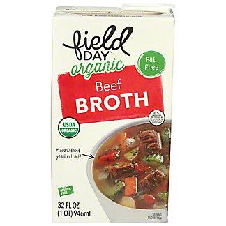 Field Day Organic Beef Broth, 32 fl oz