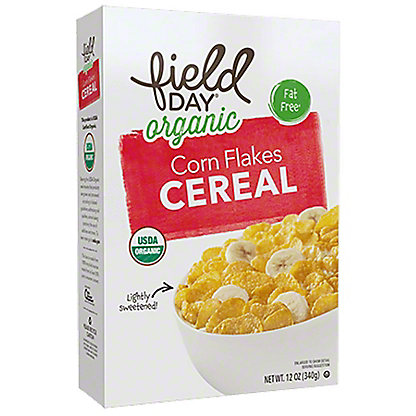 Field Day Organic Corn Flakes, 12 oz
