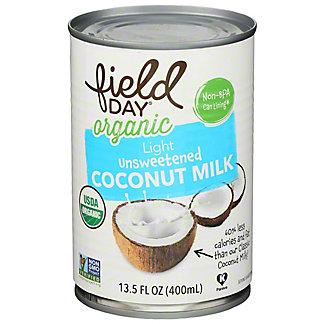 Field Day Organic Unsweetened Coconut Milk, 13.5 oz