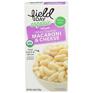 Field Day Organic White Cheddar Macaroni and Cheese, 6 oz