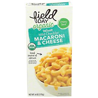 Field Day Organic Mild Cheddar Macaroni and Cheese, 6 oz