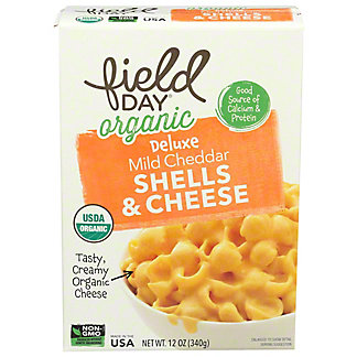 Field Day Organic Mild Cheddar Shells and Cheese, 12 oz