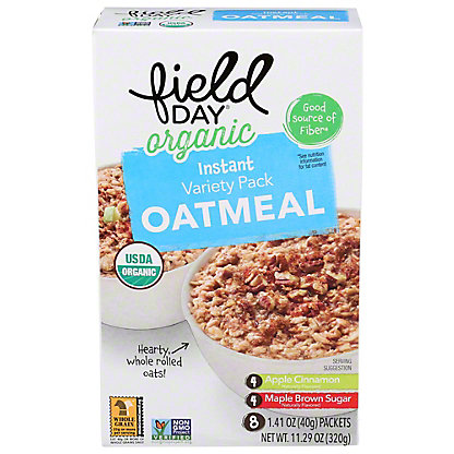 Field Day Organic Instant Oatmeal Variety Pack, 11.29 oz