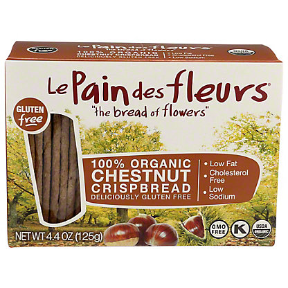 Le Pain Des Fleurs Organic Chestnut Crispbread, 4.4 oz