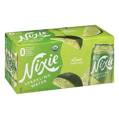 Nixie Sparkling Water Organic Lime, 8 pk Cans, 12 fl oz ea