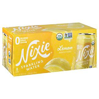 Nixie Sparkling Water Organic Lemon, 8 pk Cans, 12 fl oz ea