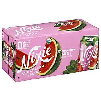 Nixie Sparkling Water Organic Watermelon Mint, 8 pk Cans, 12 fl oz ea