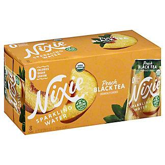 Nixie Sparkling Water Organic Peach Black Tea, 8 pk Cans, 12 fl oz ea
