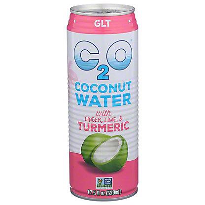C2O Ginger Lemon Turmeric Coconut Water, Can, 17.5 fl oz