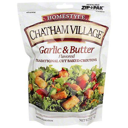 Chatham Village Garlic Butter Croutons, 5 oz