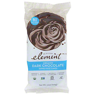 Element Organic Dark Chocolate Dipped Rice Cakes, 3.5 oz