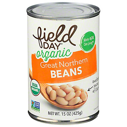 Field Day Organic Great Northern Beans, 15.5 oz