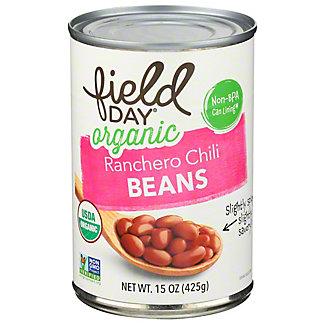 Field Day Organic Ranchero Chili Beans, 15 oz