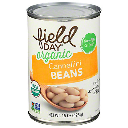 Field Day Organic Cannellini Beans, 15.5 oz