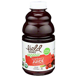 Field Day Organic Cranberry Juice, 32 fl oz