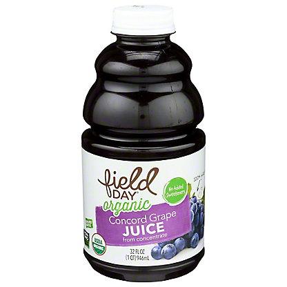 Field Day Organic Concord Grape Juice, 32 fl oz