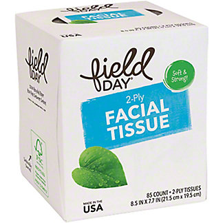 Field Day 100% Recycled 2 Ply Facial Tissue, 85 ct